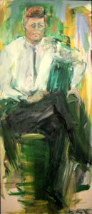 John F. Kennedy', 1963 painting by Elaine de Kooning,