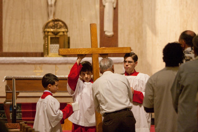 St. Landry Catholic Church: Photos from Good Friday ...