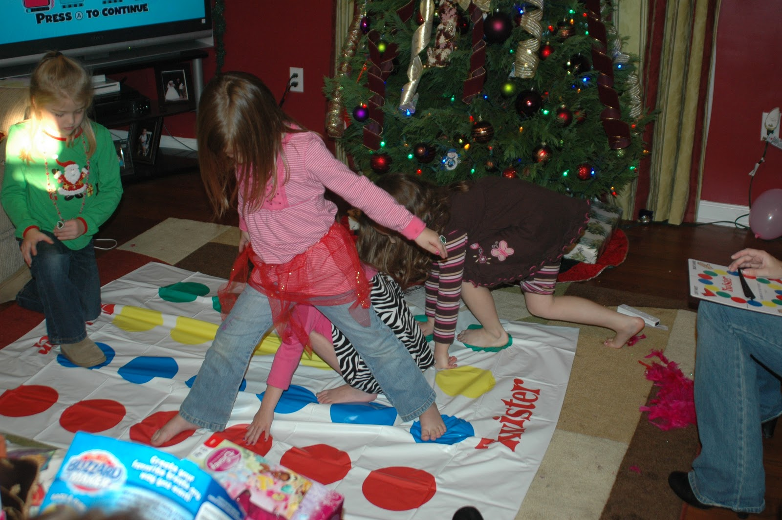little girls playing twister