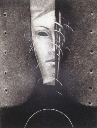 Bogusław Jagiełło 1960 | Polish symbolist painter | A Sphinx in Poznan