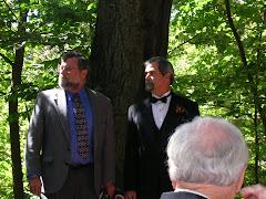 Tom & Bill at Laurel's wedding