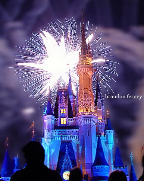 walt disney world castle fireworks. walt disney world castle