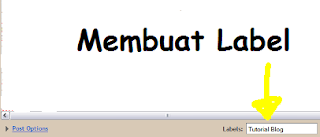 Cara membuat label di Blogger