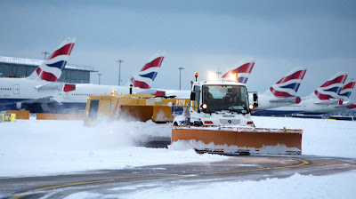 The Great Storm Of 2010 Wipes Out European Air Travel- 3 Whole Inches Of Snow