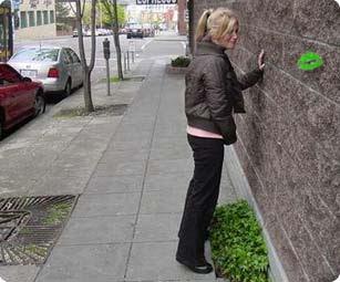 Women hold pee in public she's star