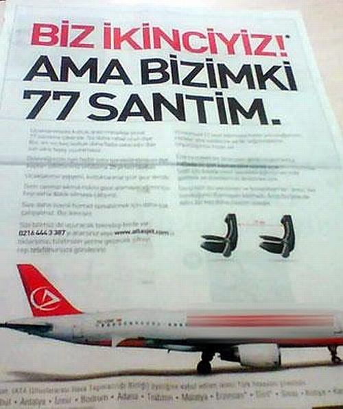 AtlasJet Reklamı: Bizimki 77 santim