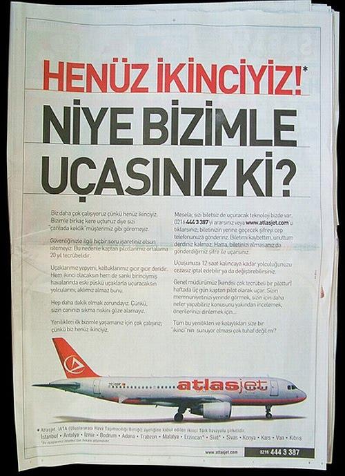 AtlasJet Reklamı: İkinciyiz
