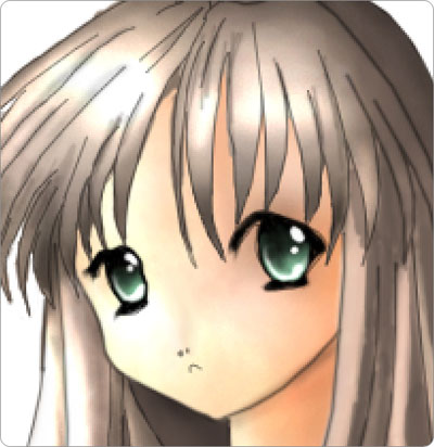 Anime Eyes Girl. 19) Represent the girl's eyes