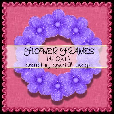 http://sparkling-special-designs.blogspot.com/2009/05/flower-frames.html