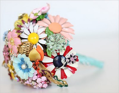 Vintage Jeweled Brooch Bouquets