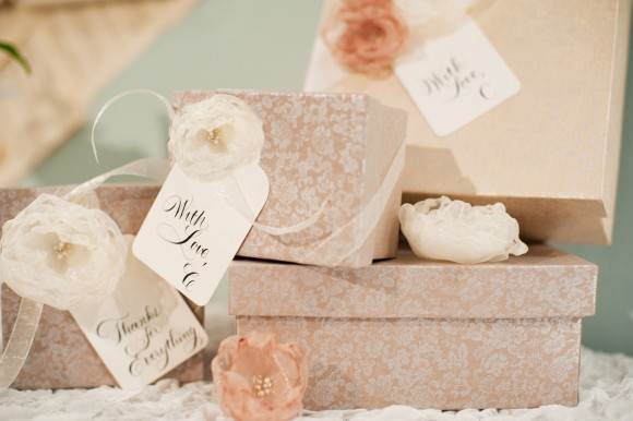 paired with letterpress gift tags and beautiful calligraphy