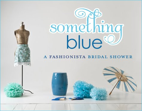 This darling Something Blue fashionista bridal shower was created by