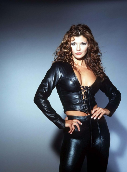 Sexy Ali Landry in Black Leather