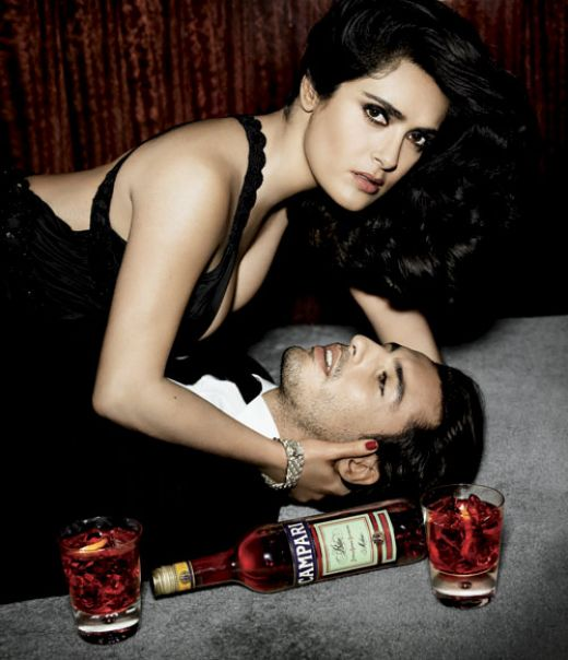 Salma Hayek for Campari photoshoot