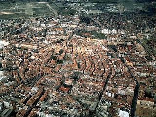 Vista aérea del casco histórico de Vitoria-Gasteiz