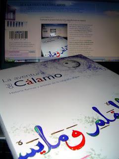 El libro 'La aventura del cálamo' en el blog 'Sí a la Historia del Arte' [Foto: Alejandro Pérez Ordóñez]