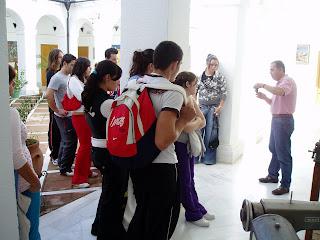 Visita de alumnos de Arte del IES Las Cumbres, de Ubrique [Foto: F. Solano]