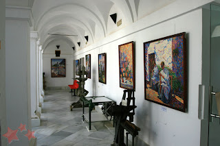 Exposición de José L. López [Foto: Manuel Ramírez, web Pintores de Ubrique]