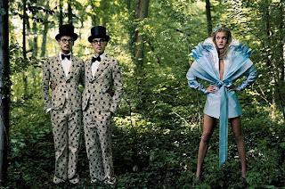Tweedle Dee and Tweedle Dum couture Alice in Wonderland @ theotherhchic