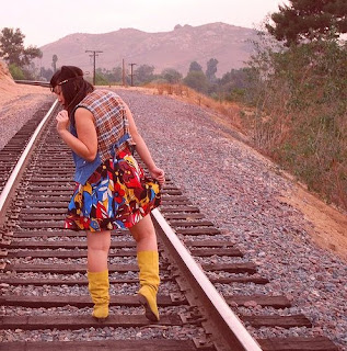 neo-hippie on railroad tracks @ theotherchic