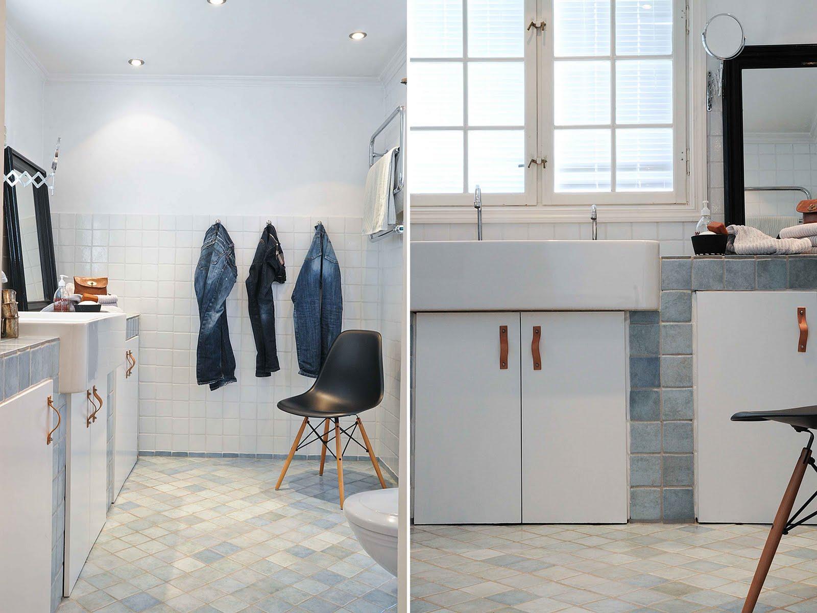 Keuken Licht Blauw : interiur huis keuken: Prachtige badkamer