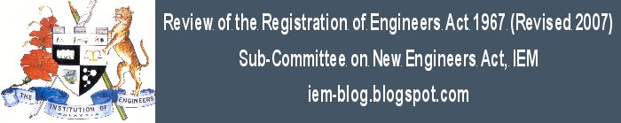 IEM -  Review of the Registration of Engineers Act 1967 (Revised 2007)