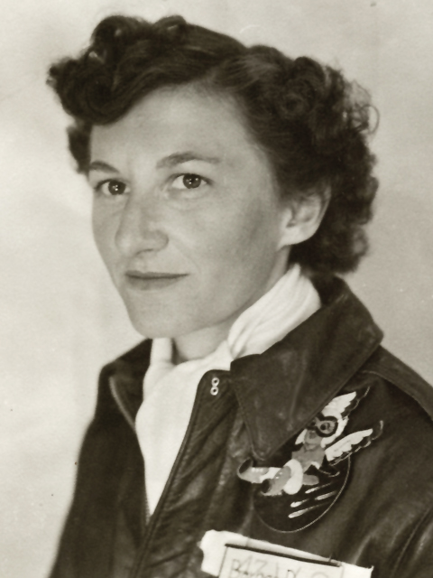World War Pilot. Woman World War II pilot