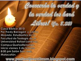 SESIONES DEL CURSO BIBLICO