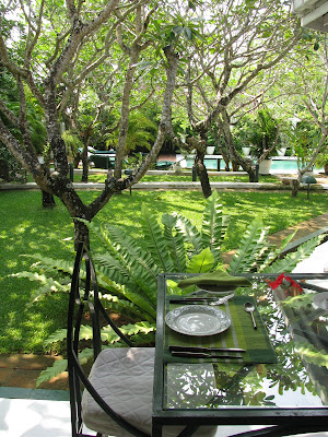 sun house hotel galle sri lanka chair and dining table by frangipani grove and pool