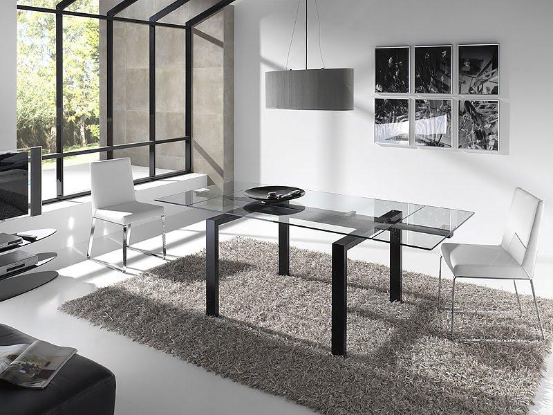 Mesas de cristal transparente for Mesas de comedor cristal transparente