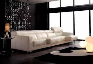 sofa de piel blanco catai