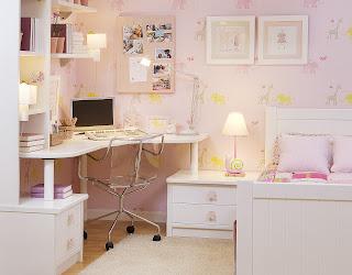 Dormitorio con cama individual con cabecero y piecero ranurado y mesa de estudio de rincon - Dormitorios juveniles el mueble ...