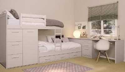 Camas dobles y triples para dormitorios juveniles e infantiles for Camas dobles juveniles ikea