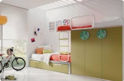 Camas dobles y triples para dormitorios juveniles e infantiles - Camas tren para ninos ...