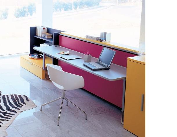 Cama abatible con escritorio cabrio de clei - Cama plegable escritorio ...