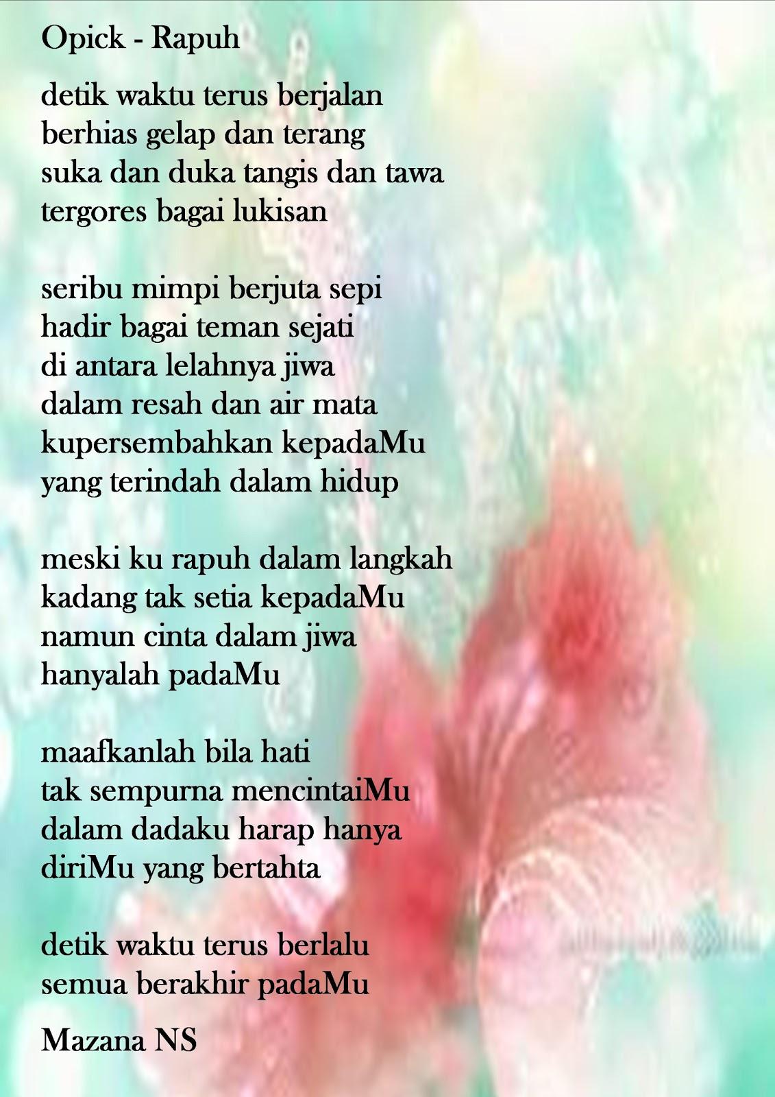 Opick-Rapuh (Lirik)