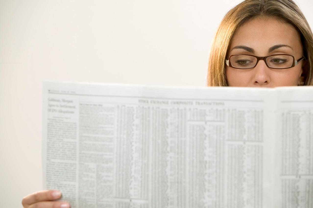 how to read a newspaper efficiently