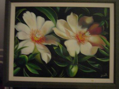 Cuadros Hiperrealistas de Flores Blancas, Teresa  - Imagenes De Cuadros Con Flores Blancas
