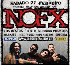 27 de FEBRERO junto a NOFX en el ESTADIO MALVINAS ARGENTINAS!!!!