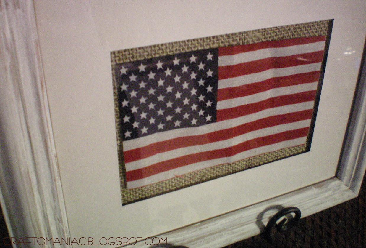 Frame a dollar Flag - Craft-O-Maniac
