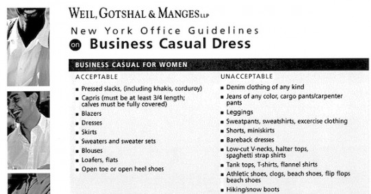 summer dress code policy examples