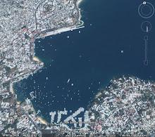 Parte de la Bahía de Santa Lucía en Acapulco