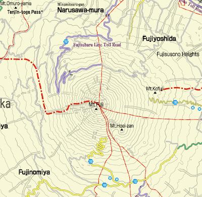 Mount Fuji Japan Map