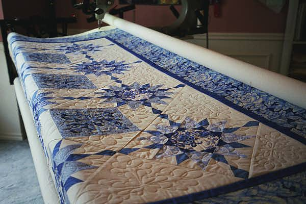 On the quilting machine
