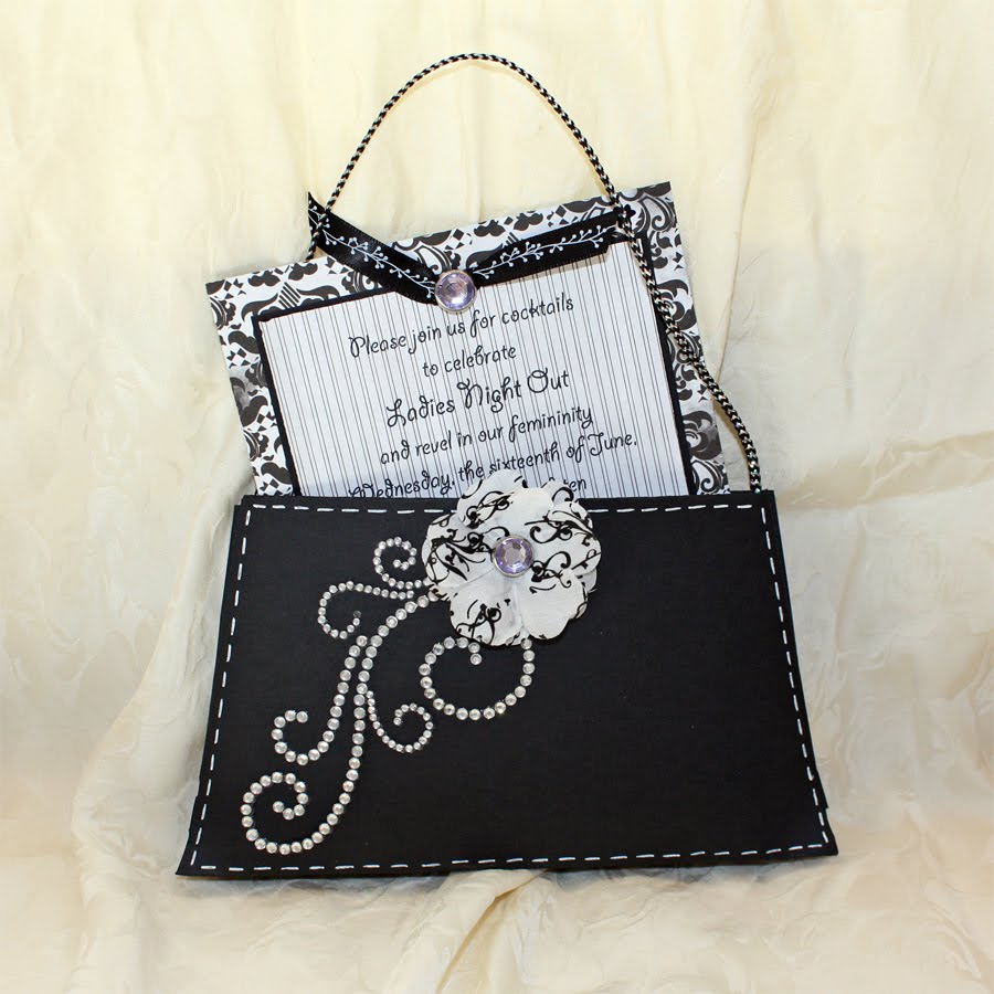 Liz Qualman Designs: Imaginisce Purse Invitation Tutorial