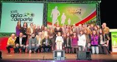 El Deporte de Torrelavega homenajeado en el transcurso de una brillante Gala  en el T.M. C.E.