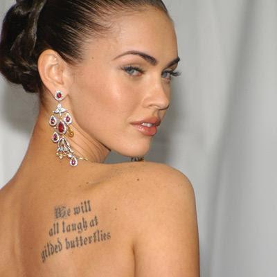 Megan Fox Tattoo Quotes