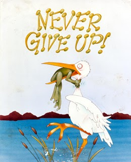 Never Give Up Frog Choking Bird