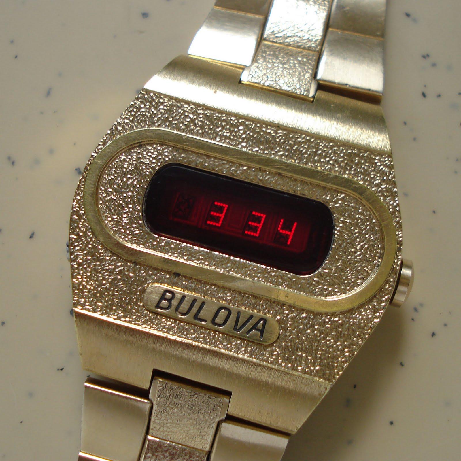 bulova vintage digital watches