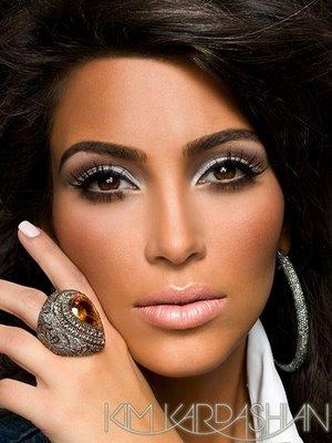 kim kardashian  smokey eye make up